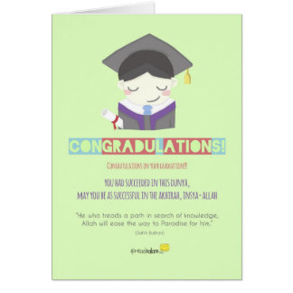 Congradulations! (Male) Note Card