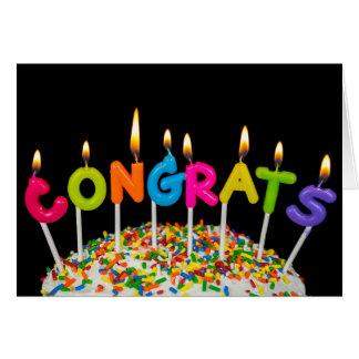 Congrats Candles Card