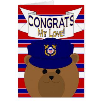 Congrats - Coast Guard - My Love / Boyfriend Card