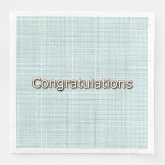 Congrats-Gold-Delicate-Blue -NAPKIN-MULTI-CHOICE'S Paper Dinner Napkin