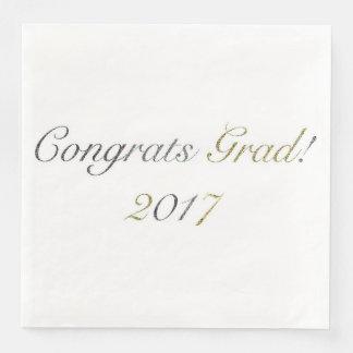 Congrats Grad! 2017 Paper Napkins
