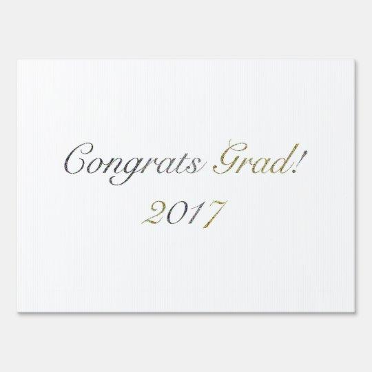 Congrats Grad! 2017 Yard Sign Decor
