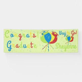Congrats! Grad Balloons Hats Banner