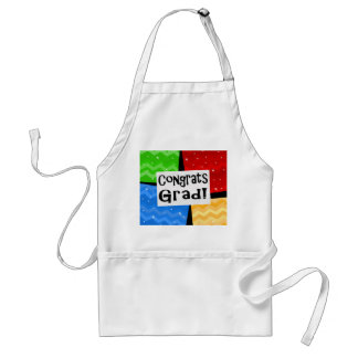 Congrats Grad Festive Multicolor Graduation Party Standard Apron