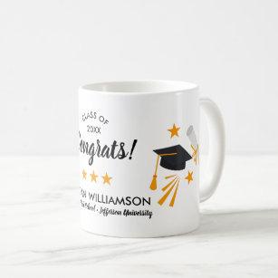 Congrats Graduation Grad Cap Grad Name Class 2019 Coffee Mug