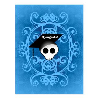 Congrats graduation skull postcard