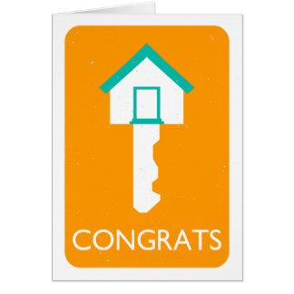 congrats home key card