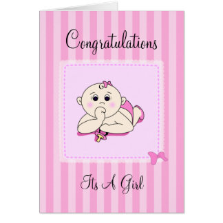Congrats Its A Girl - Customizable Card