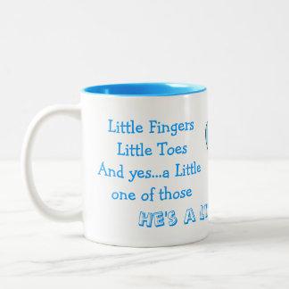 Congrats on new baby boy Two-Tone coffee mug