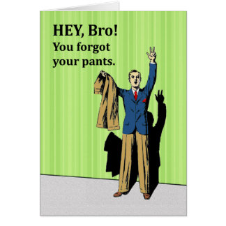 Congrats on Wedding for Brother, from His Brother Card