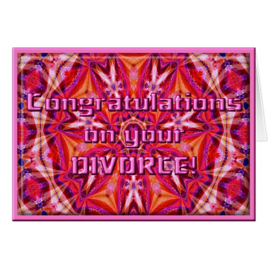 Congrats on your Divorce!  Card Template