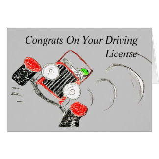 Congrats On Your Driving License Card