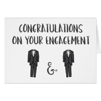 Congrats on Your Engagement - Gay Couple Card