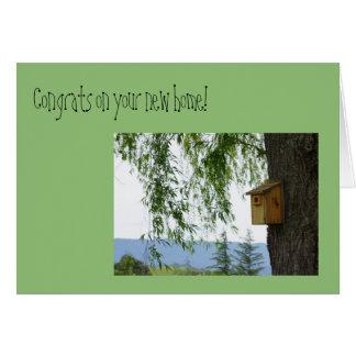 """""""Congrats on your new home"""" Springtime Birdhouse Card"""