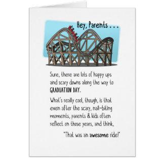 Congrats Parents-Graduation-Roller Coaster Ride Card