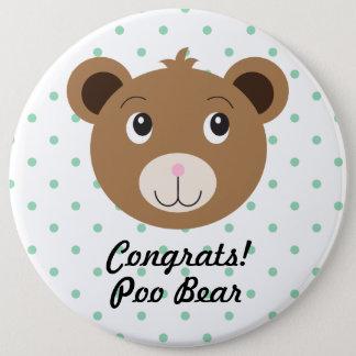 Congrats Poo Bear Dot Green Cute Colossal Button