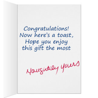 Congrats! Sassy and sweet acknowledgment. Greeting Card