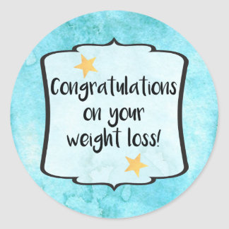 Congrats Slimming Group Diet Motivation Planner Round Sticker