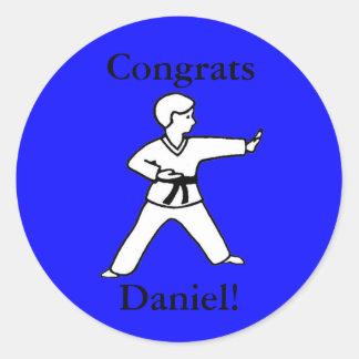 Congrats stickers Martial Arts Daniel