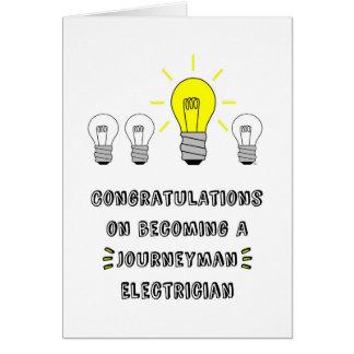 Congrats sur devenir un électricien de compagnon carte de vœux