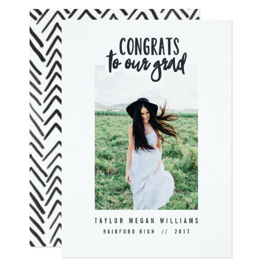 congrats to our grad (cropped image) card