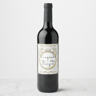 CONGRATS WEDDING 2 WINE LABLE BOTTLE WINE LABEL