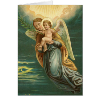 Congratualtions Guardian Angel And Baby Jesus Card