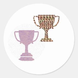 Congratulate with AWARD Winner  Symbols Round Sticker
