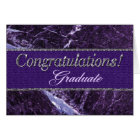 Congratulation Graduate Purple Stone Card