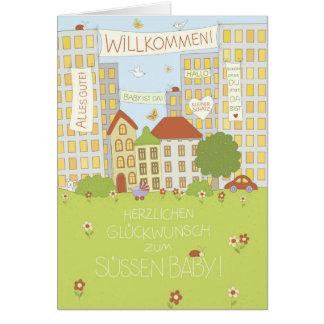Congratulation map to the baby card