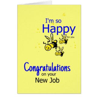 Congratulation on a new job card