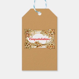 Congratulations 2 gift tags
