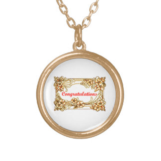 Congratulations 2 gold plated necklace