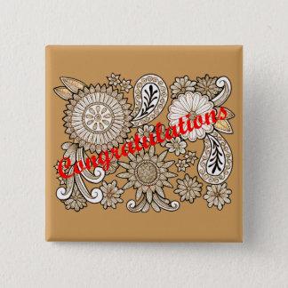 Congratulations 2 Inch Square Button
