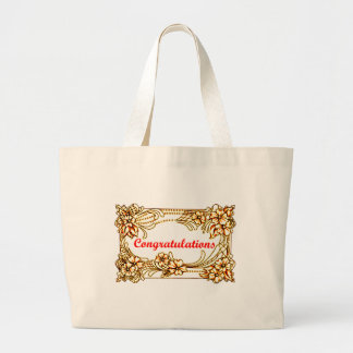 Congratulations 2 large tote bag