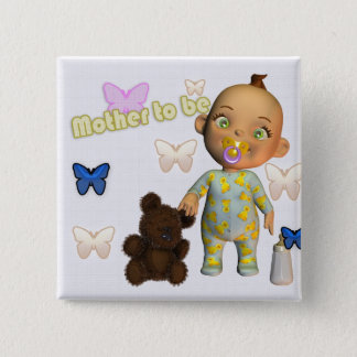 Congratulations A, pregnant, expecting a baby 2 Inch Square Button