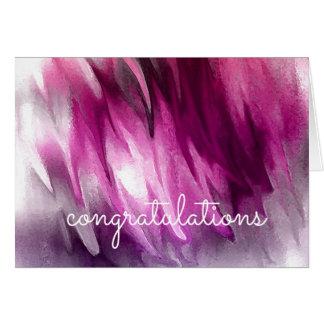 Congratulations Abstract Watercolor Artist Card