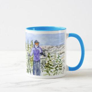 congratulations allison skiing mug