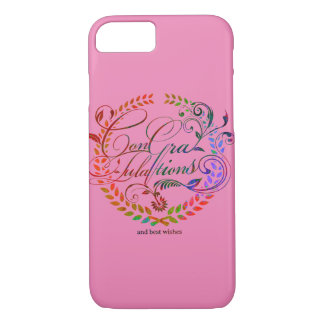 Congratulations and best wishes (color ver.) iPhone 7 case