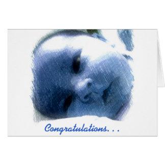 Congratulations Baby Boy Note Card