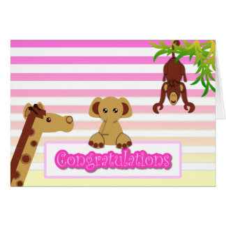 Congratulations, Baby Girl - Customized Greeting Card