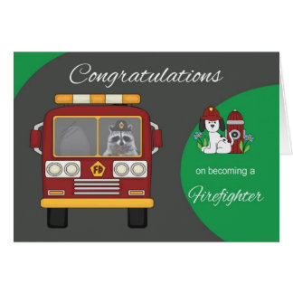 Congratulations becoming Firefighter Greeting Card
