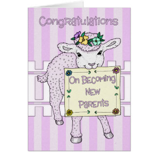 Congratulations Birth Of Baby Girl New Parents Greeting Card
