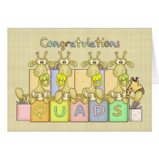 Congratulations Birth Of Quads Greeting Card