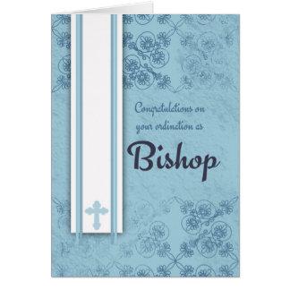 Congratulations Bishop Ordination In Blue Card