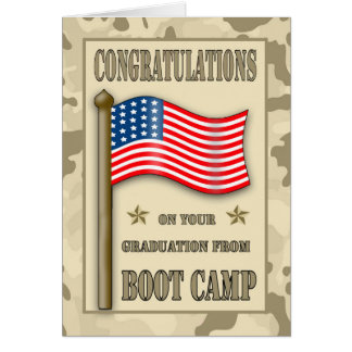 Congratulations Boot Camp Graduation Card
