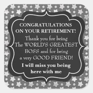 Congratulations Boss retirement sticker fun
