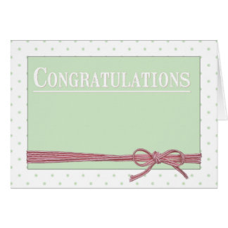 Congratulations Bow Tie Polka Dots Card