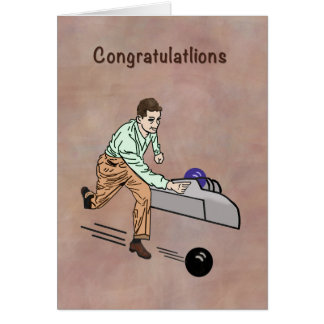 Congratulations Bowlers 300 Game Card