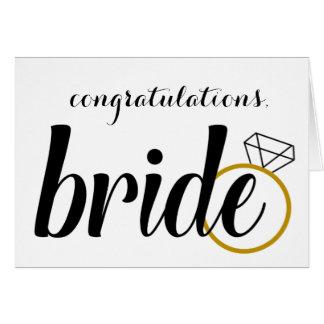 Congratulations, Bride - Bridal Shower Card